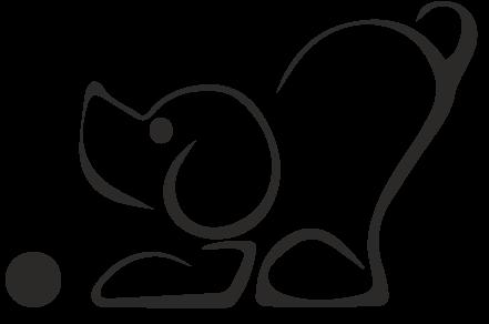 Výcvik psů hrou Logo